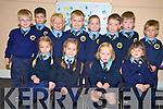 Grace O'Connor and Maya Fleming  Abbie Daly, Kayleigh O'Sullivan, Tomas Griffin, Cian McAulliffe, Nathan O'Connor, Cathal Devlin, Evan Brosnan, Gary Wynne, Niall Coffey and Liam Waldron, who were all part of junior infants in  Lough Guitane National School, Killarney on Monday............