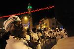 Eritrean asylum-seekers, living in Tel Aviv, Israel, celebrate the Coptic Christmas at Mangar Square in Bethlehem, West Bank.