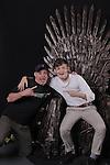Jack Gleeson & Iron Throne