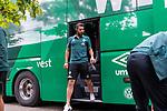 20.07.2019, Heinz Detmar Stadion, Lohne, Interwetten Cup 1.VfL Osnabrück vs SV Werder Bremen<br /> <br /> im Bild / picture shows <br /> Ankunft Werder bremen in Lohne<br /> Claudio Pizarro (Werder Bremen #14)<br /> <br /> Foto © nordphorto / Kokenge