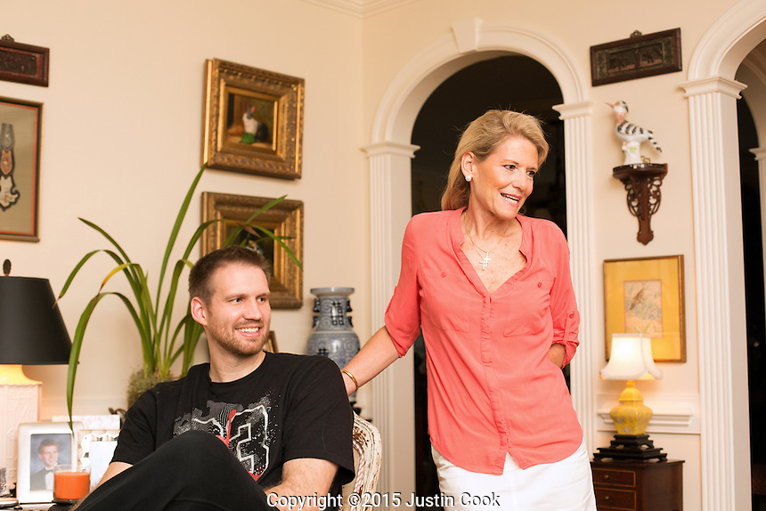 Shavlik Randolph after dinner at home with his mother Kim in  Raleigh, N.C. on Tuesday, June 23, 2015. (Justin Cook)