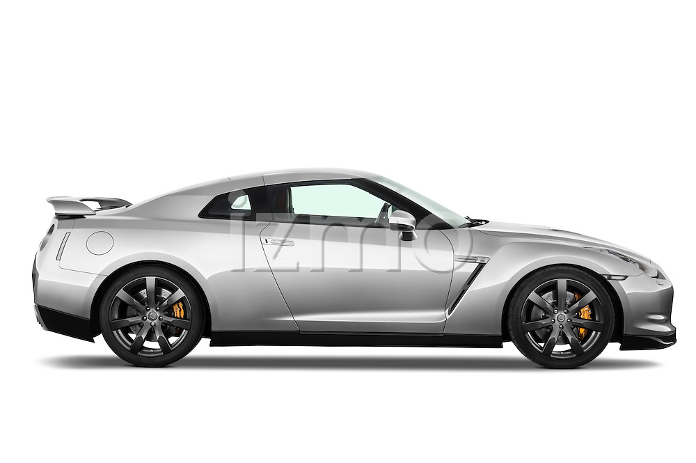Passenger side profile view of a 2009 Nissan GTR Coupe.