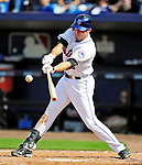 2 March 2010: New York Mets' first baseman Ike Davis singles against the Atlanta Braves during the Opening Day of Grapefruit League play at Tradition Field in Port St. Lucie, Florida. The Mets defeated the Braves 4-2 in Spring Training action. Mandatory Credit: Ed Wolfstein Photo