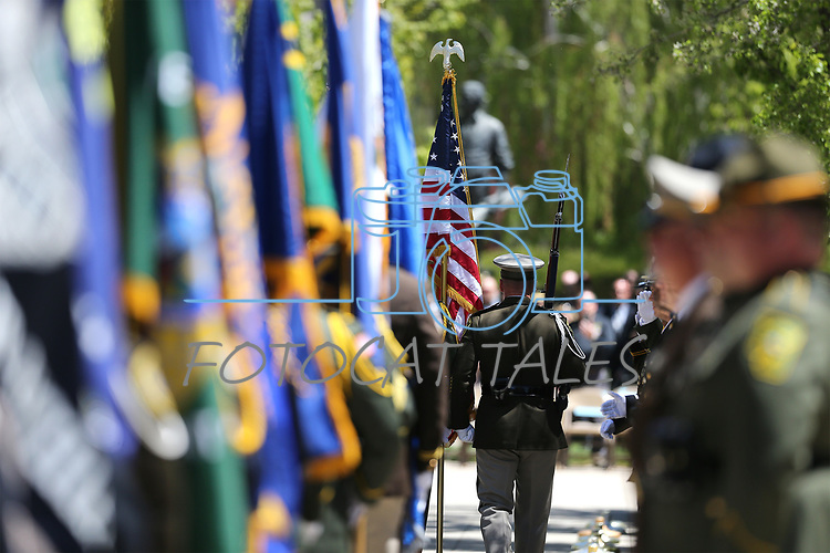 Images from the 21st annual Nevada State Law Enforcement Officers Memorial ceremony in Carson City, Nev., on Thursday, May 3, 2018. <br /> Photo by Cathleen Allison/Nevada Momentum