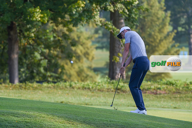 Ross Fisher (ENG) chips on to 9 during 2nd round of the 100th PGA Championship at Bellerive Country Club, St. Louis, Missouri. 8/11/2018.<br /> Picture: Golffile | Ken Murray<br /> <br /> All photo usage must carry mandatory copyright credit (© Golffile | Ken Murray)