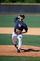 New York Yankees pitcher Glenn Otto (83) during a Minor League Spring Training game against the Detroit Tigers on March 21, 2018 at the New York Yankees Minor League Complex in Tampa, Florida.  (Mike Janes/Four Seam Images)