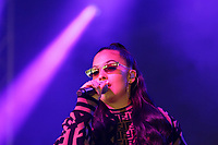 Pictured: Mabel performs. Saturday 26 May 2018<br /> Re: BBC Radio 1 Biggest Weekend at Singleton Park in Swansea, Wales, UK.
