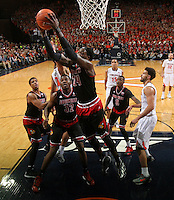 Louisville forward Montrezl Harrell (24) during the game Saturday Feb. 7, 2015, in Charlottesville, Va. Virginia defeated Louisville  52-47. (Photo/Andrew Shurtleff)