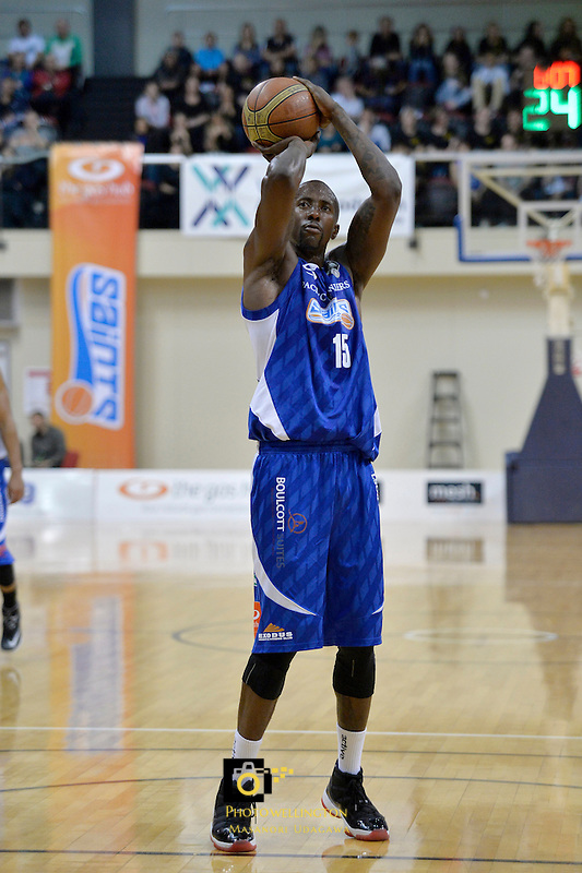 Brandon Bowman in action during the NBL - Wellington Saints v Waitakere Rangers at TSB Bank Arena, Queens Wharf, Wellington, New Zealand on Friday 23 May 2014. <br /> Photo by Masanori Udagawa. <br /> www.photowellington.photoshelter.com.