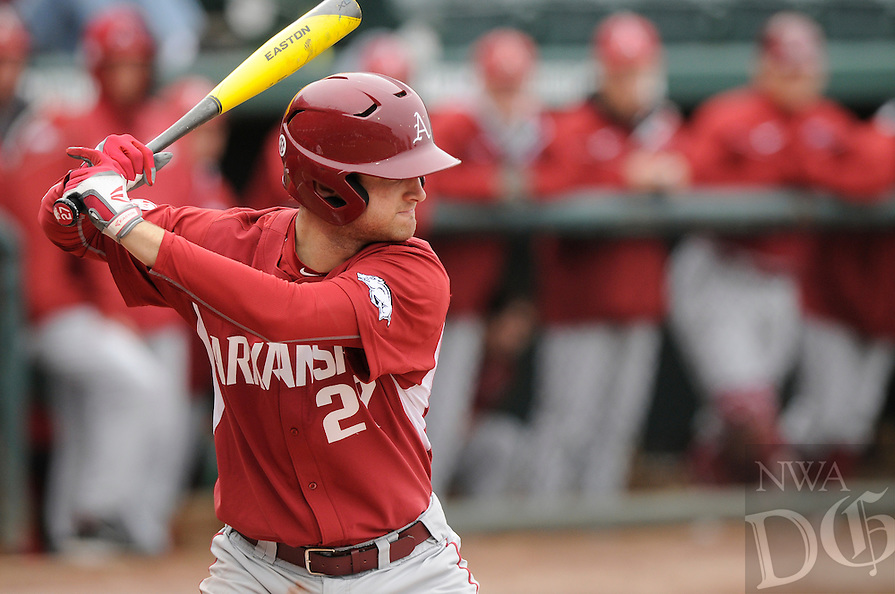 NWA Democrat-Gazette/ J.T. WAMPLER -- The University of Arkansas baseball team took on Eastern Illinois University Monday March 2, 2015.