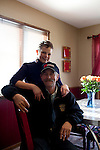 Kendrick Brinson.LUCEO..Kay Muchow poses with her boyfriend Mike Berg, who spent 33 years on an oil rig. Kay was recruited to work as a manager at the Williston, North Dakota Economart. The grocery store provides the housing for their employees who relocate and Kay shares the home with coworkers. The town is currently experiencing an influx of people relocating due to an oil boom...Model Released: yes.Assigning Editor: Michael Wichita.