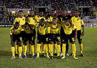 Jamica lines up during the semifinals of the CONCACAF Men's Under 17 Championship at Catherine Hall Stadium in Montego Bay, Jamaica. The United States defeated Jamaica, 2-0.