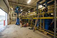 NWA Democrat-Gazette/BEN GOFF @NWABENGOFF<br /> Machines used to dry sludge Thursday, Nov. 21, 2019, in the solids handling building at the Rogers wastewater treatment plant.
