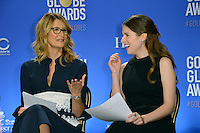 Actresses Laura Dern &amp; Anna Kendrick at the nominations announcement for the 74th Golden Globe Awards at the Beverly Hilton Hotel, Beverly Hills, CA.<br /> December 12, 2016<br /> Picture: Paul Smith/Featureflash/SilverHub 0208 004 5359/ 07711 972644 Editors@silverhubmedia.com