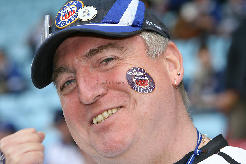 Photo: Rich Eaton...Bath Rugby v Clermont Auvergne. European Challenge Cup Final. 19/05/2007. A Bath fan.