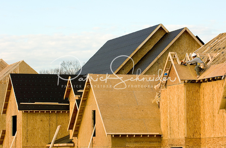 Photography of homes under construction in Charlotte, NC.