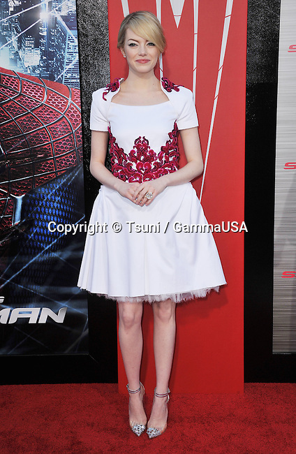 Emma Stone  at the Spider-Man Premiere at the Westwood Village Theatre In Los Angeles.
