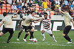 HOUSTON, TX - DECEMBER 11:  Hunter Bandy (20) of Wake Forest University and Bryce Marion (7) of Stanford University compete for the ball during the Division I Men's Soccer Championship held at the BBVA Compass Stadium on December 11, 2016 in Houston, Texas.  Stanford defeated Wake Forest 1-0 in a penalty shootout for the national title. (Photo by Justin Tafoya/NCAA Photos via Getty Images)