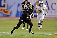 20 December 2011:  FIU wide receiver T.Y. Hilton (4) cuts through the Marshall secondary after a reception in the fourth quarter as the Marshall University Thundering Herd defeated the FIU Golden Panthers, 20-10, to win the Beef 'O'Brady's St. Petersburg Bowl at Tropicana Field in St. Petersburg, Florida.