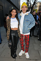 Shree Patel and Hector Bellerin at the LFW (Men's) a/w2018 Chistopher Raeburn catwalk show, BFC Show Space, The Store Studios, The Strand, London, England, UK, on Sunday 07 January 2018.<br /> CAP/CAN<br /> &copy;CAN/Capital Pictures