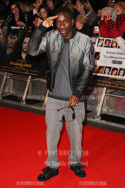 "Tinchy Stryder arriving for the ""The Twilight Saga: Breaking Dawn Part 2"" premiere at the Odeon Leicester Square, London. 14/11/2012 Picture by: Steve Vas / Featureflash"