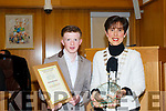 Tralee boxer, Patrick McCarthy, was honoured by the Tralee Municipal District last week. <br /> Pictured with Mayor of Tralee, Cllr Norma Foley.