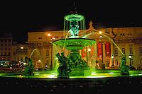 Rossio Square, Praca de D orn Pedro IV, Lisbon, Portugal