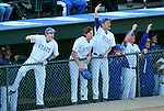 SIOUX FALLS, SD - MAY 20: The South Dakota State bench erupts after the Jacks scoring a pair of runs against IPFW in the third inning Wednesday night at the Sioux Falls Stadium during the Summit League Baseball Tournament. (Photo by Dave Eggen/Inertia)