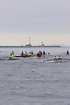 Open water racing, North American Open Water Championship, racing, competition, Port Townsend, Washington State, Pacific Northwest, Puget Sound, USA, start, Point Wilson lighthouse in the distance,