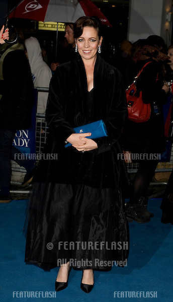 """Olivia Coleman arriving for the premiere of """"The Iron Lady"""" at the BFI, South Bank, London. 04/01/12  Picture by: Simon Burchell / Featureflash"""