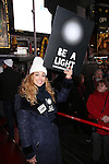 Lorin Latarro attends The Ghostlight Project to light a light and make a pledge to stand for and protect the values of inclusion, participation, and compassion for everyone - regardless of race, class, religion, country of origin, immigration status, (dis)ability, gender identity, or sexual orientation at The TKTS Stairs on January 19, 2017 in New York City.
