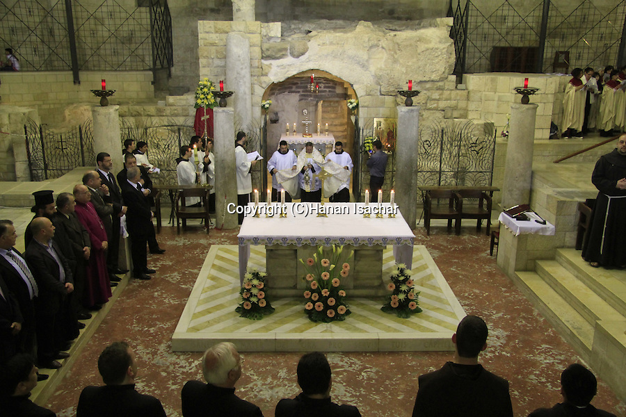 Israel, Lower Galilee, Nazareth, Annunciation Day ceremony by the Grotto of the Annunciation