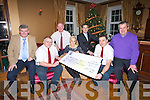 PRESENTATION: Members  the 24/7 Taxis who presented a cheque of EURi,417 to Orlaigh Winters of the Breast Cancer association on Wednesday night in Ballygarry House Hotel, Tralee, L-r: John O'Leary, Kevin Finn, Jim Naughton, Orlaigh Winters, Padraig McGillcuddy (GM Ballygarry House Hotel & Spa), Paul Counihan and Tony Boyle......... . ............................... ..........