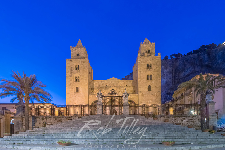 Europe, Italy, Sicily, Cefalu, Cefalu Cathedral completed in the 12th century