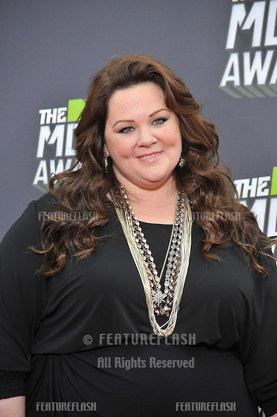 Melissa McCarthy at the 2013 MTV Movie Awards at Sony Studios, Culver City..April 14, 2013  Los Angeles, CA.Picture: Paul Smith / Featureflash