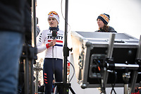 Red Bull TV Thomas Pidcock (GBR) post race interview<br /> <br /> Men Elite Race<br /> UCI Cyclocross Worldcup – Hoogerheide (Netherlands)<br /> <br /> ©kramon