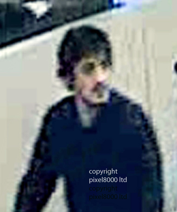 Pic shows: Brussels bombings Suicide bombers pushing trolleys through airport on the way to the target.<br /> <br /> Man believed to be Najim Laachraoui<br /> <br /> <br /> <br /> Pic by Pixel 8000 Ltd