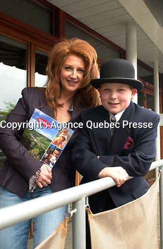 May 29 2003 file photo- Laurence Jalbert pose at the News conference for the Mont-Tremblant Jazz Festival