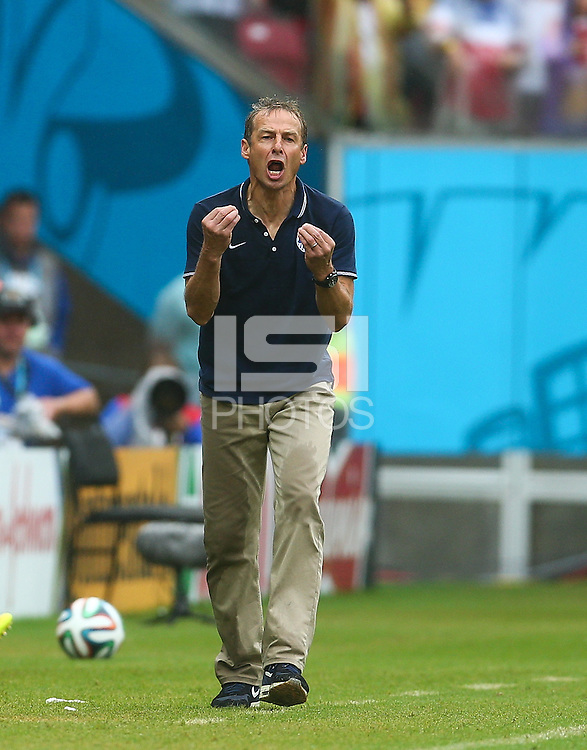 USA Coach Juergen Kilnsmann gestures on the touchline