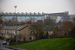 An exterior view of the stadium before Burnley hosted Everton in an English Premier League fixture at Turf Moor. Founded in 1882, Burnley played their first match at the ground on 17 February 1883 and it has been their home ever since. The visitors won the match 5-1, watched by a crowd of 21,484.
