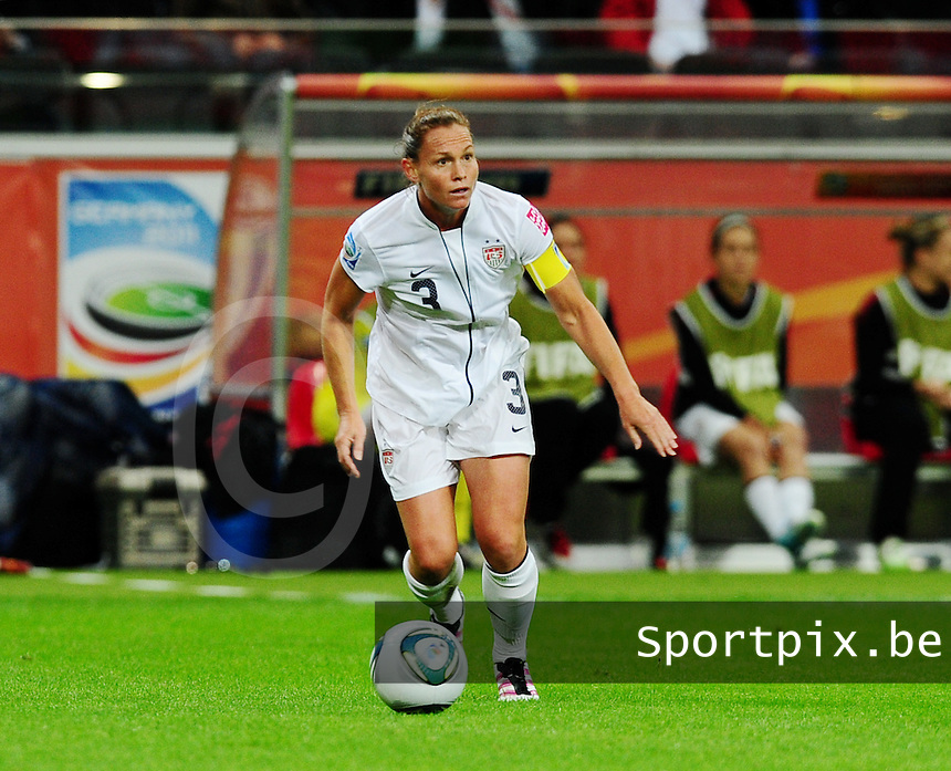 Fifa Women's World Cup Germany 2011 : Japan - USA  at Commerzbank Arena Frankfurt : Christie Rampone.foto DAVID CATRY / Vrouwenteam.be