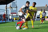 25 matt Robinson brushes 2 James Hurst aside