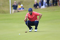 Jon Rahm (ESP) on the 16th green during Sunday's Final Round of the Dubai Duty Free Irish Open 2019, held at Lahinch Golf Club, Lahinch, Ireland. 7th July 2019.<br /> Picture: Eoin Clarke | Golffile<br /> <br /> <br /> All photos usage must carry mandatory copyright credit (© Golffile | Eoin Clarke)
