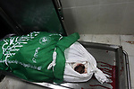 The body of Palestinian Mohammed Abu Namous who was shot dead by Israeli security forces, is seen at Indonesian hospital in the northern Gaza Strip August 18, 2019. Israeli forces last night killed three Palestinians and injured a fourth one in an artillery attack near the town of Beit Lahia, north of the Gaza Strip, according to the Ministry of Health. Photo by Mahmoud Ajjour