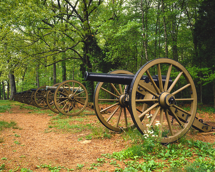 Ruggles' batteries of Civil War cannons; Shiloh National Military Park, TN