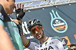 Slovakian National Champion Peter Sagan (SVK) Bora-Hansgrohe at sign on before the start of Stage 5 of the Race of the Two Seas, the 54th Tirreno-Adriatico 2019, running 180km from Colli al Matauro to Recanati, Italy. 17th March 2019.<br /> Picture: LaPresse/Fabio Ferrari | Cyclefile<br /> <br /> <br /> All photos usage must carry mandatory copyright credit (© Cyclefile | LaPresse/Fabio Ferrari)