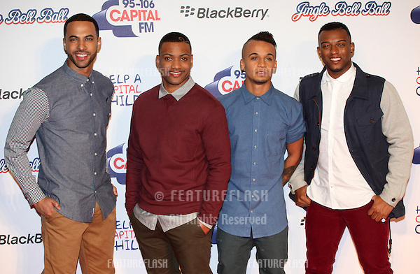 JLS arriving for the Capital Radio Jingle Bell Ball, O2 Arena, London. 08/12/2012 Picture by: Alexandra Glen / Featureflash