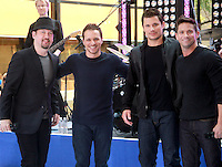 August 17, 2012 Justin Jeffre, Drew Lachey, Nick Lachey, Jeff Timmons 98 Degrees perform on the NBC's Today Show Toyota Concert Serie at Rockefeller Center in New York City.Credit:&copy; RW/MediaPunch Inc. /NortePhoto.com<br />