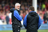 Bath Director of Rugby Todd Blackadder looks on during the pre-match warm-up. Gallagher Premiership match, between Gloucester Rugby and Bath Rugby on April 13, 2019 at Kingsholm Stadium in Gloucester, England. Photo by: Patrick Khachfe / Onside Images