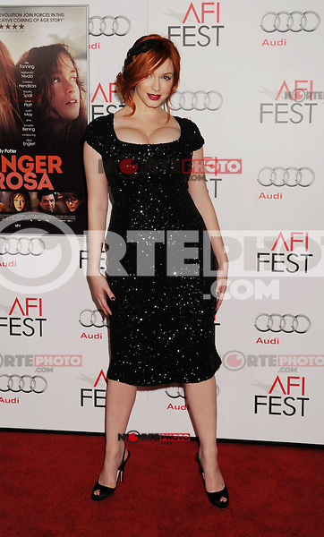 Christina Hendricks arrives at the 'Ginger And Rosa' special screening during AFI Fest 2012 at Grauman's Chinese Theatre on November 7, 2012 in Hollywood, California. .<br /> (Photo: BlueStar//OIC/NortePhoto